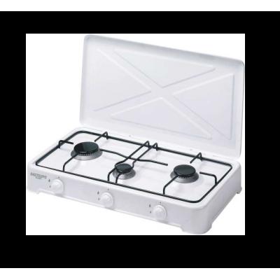 Cocina Gas Bastilipo CG300, 3 fuegos, Blanca