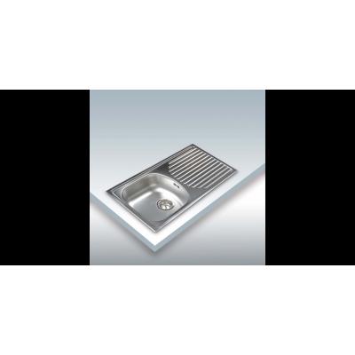 Fregadero Cata CDS1, Inox, 1C1E, 78x44cm