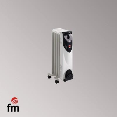 Radiador Aceite FM BR10, 1000w, 5 Elementos