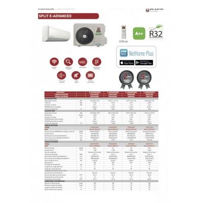 CJTO SPLIT EAS ELECTRIC R32 E-ADVANCED2-35K A++ WIFI...